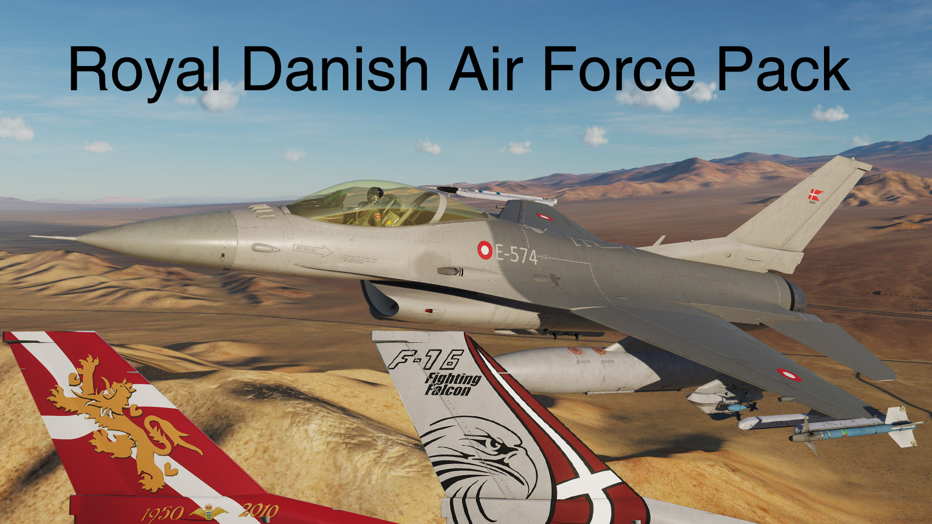 F-16AM Royal Danish Air Force Livery Pack