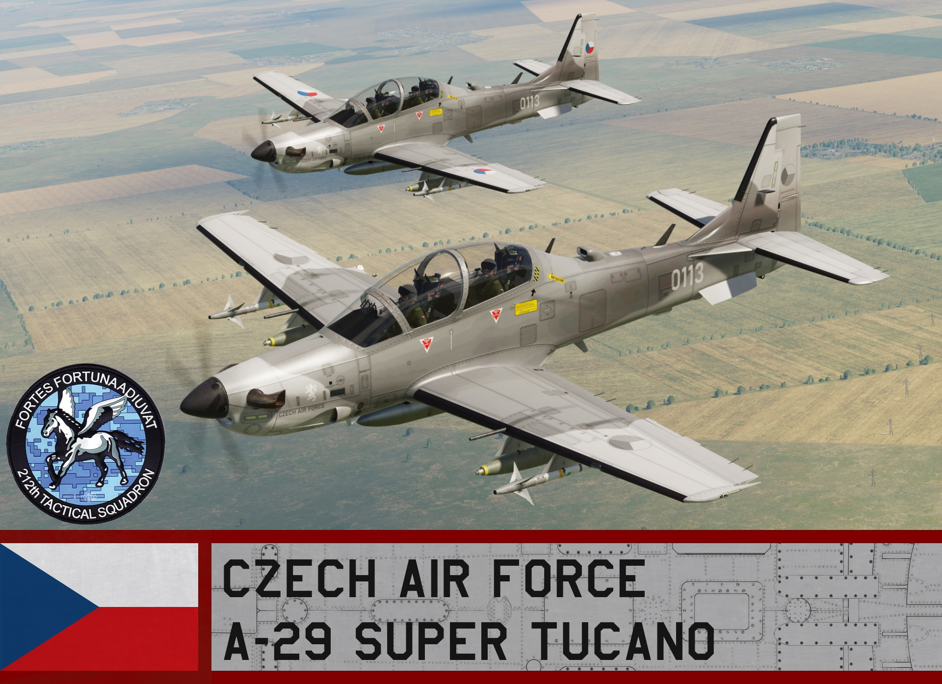 Czech Air Force A-29 / 212 Squadron (Fictional)