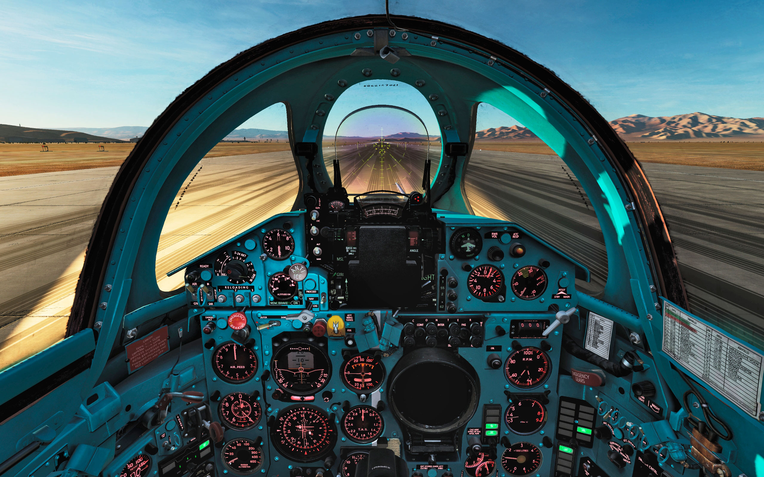 Clean english cockpit for the MIG-21 DCS World 2 5 2