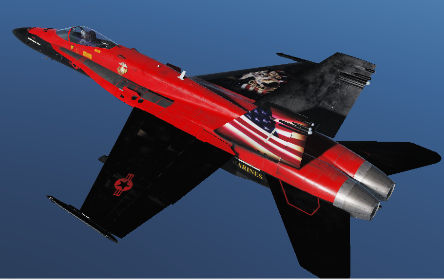Fictional USMC Commemorative Skin for DCS Hornet
