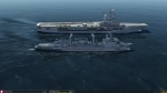 New version French aircraft carrier de Gaulle and Pa2 and ship class Durance