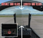 M-2000C - Lighter HUD glass with RCAF stickers on front panel