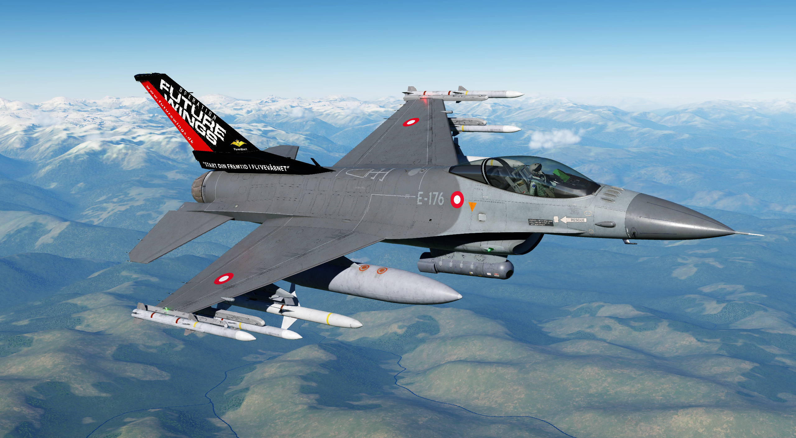 RDAF F-16A E-176 Future Wings