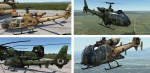 SA342 Gazelle - Fictional RCAF Camo (Green and Desert Tan) V3 (Includes SA342L Model)