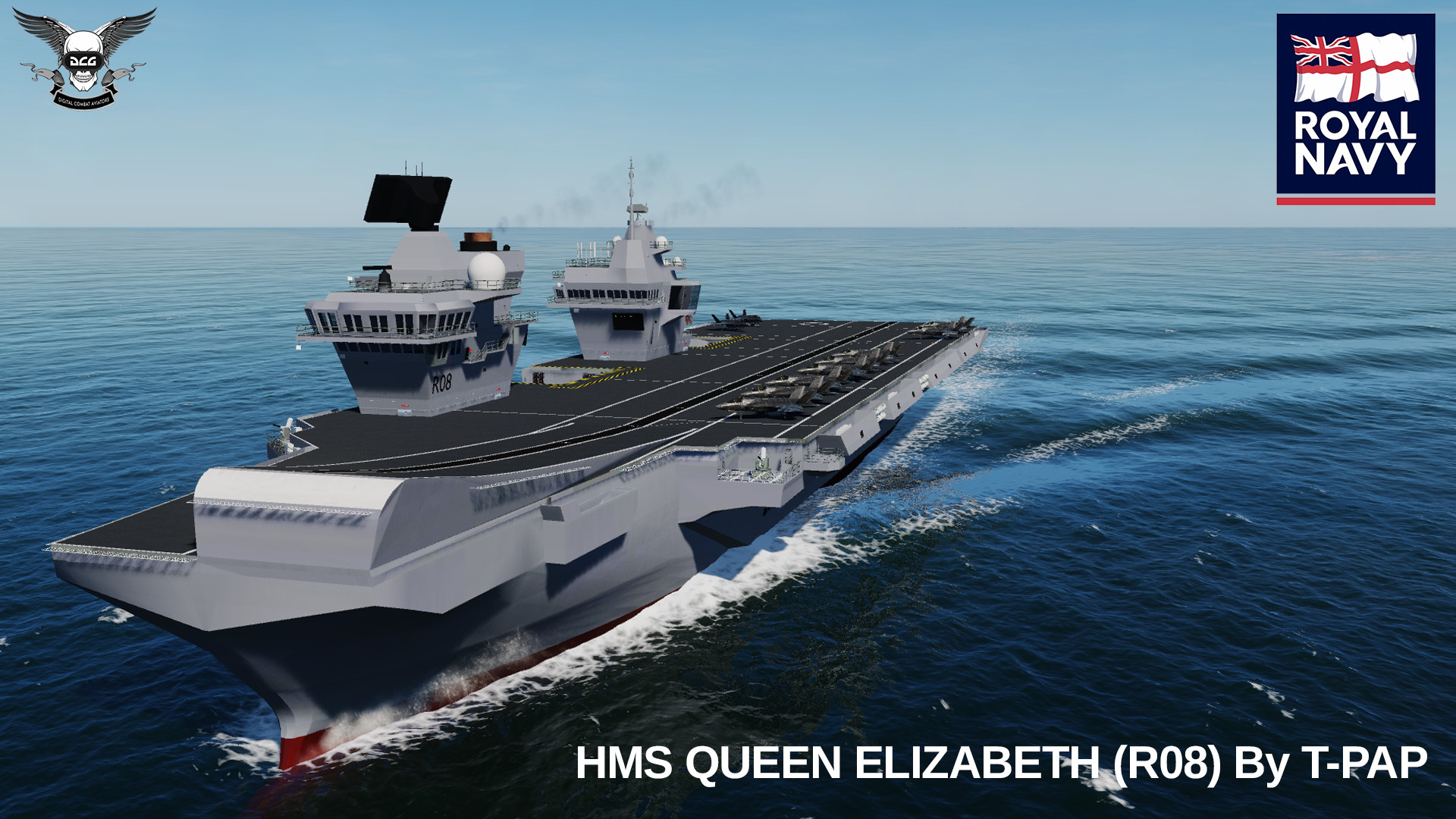 HMS Queen Elizabeth by T-Pap UPDATED Fixed missing textures V.1.2.3