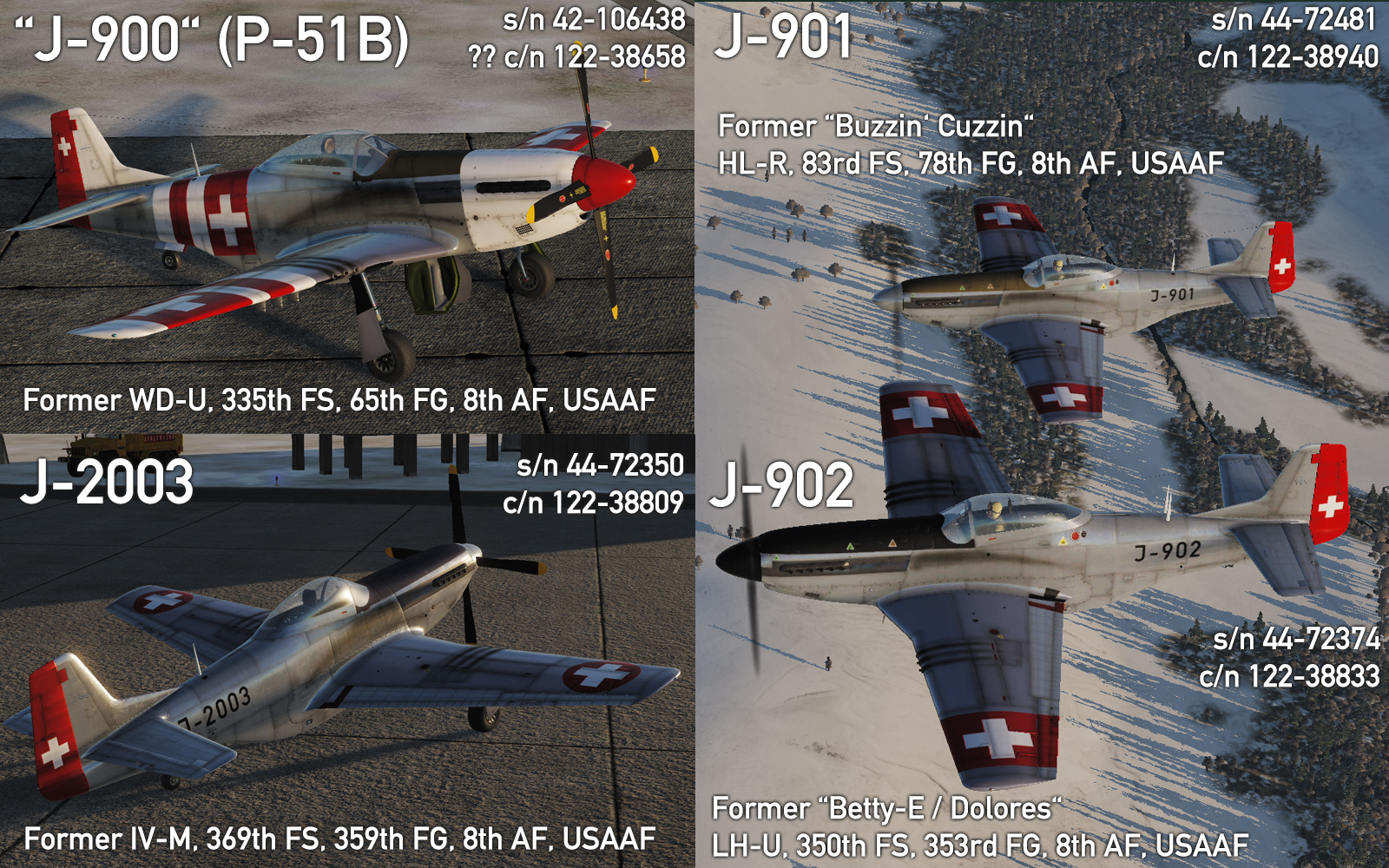 P-51D / TF-51D Swiss Air Force Pack 4.0 - Early Schemes