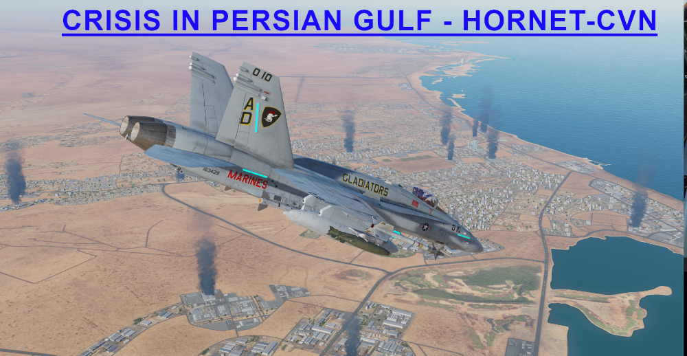 Crisis in Persian Gulf Hornet CVN using Mbot Dynamic Campaign Engine