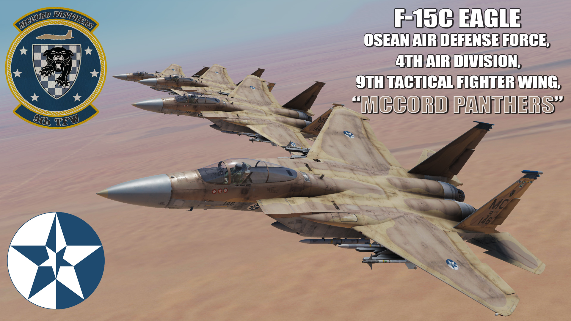 "Ace Combat - Osean Air Defense Force 4th Air Division, 9th TFW ""Mccord Panthers"" F-15C Eagle"
