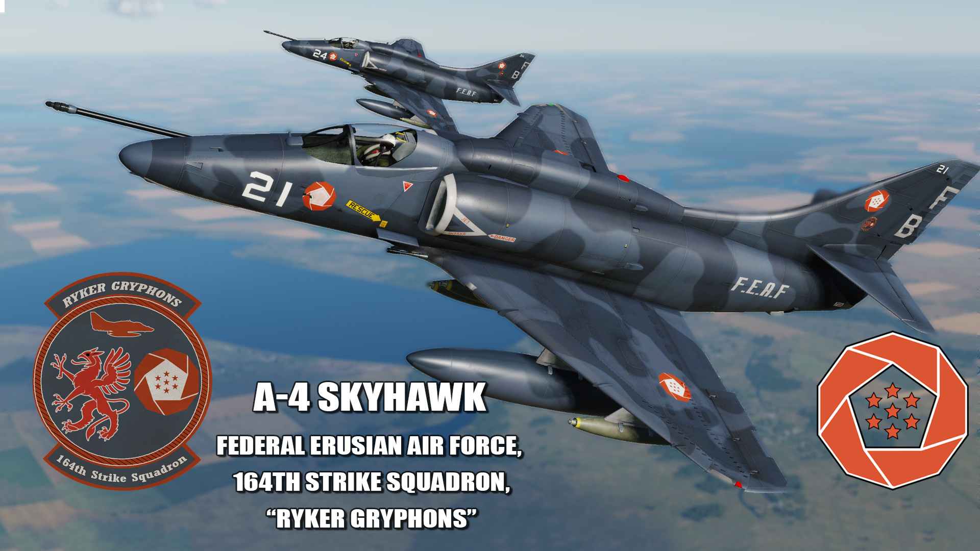 "Ace Combat - Federal Erusian Air Force 164th Strike Squadron ""Ryker Gryphons"" A-4 Skyhawk"