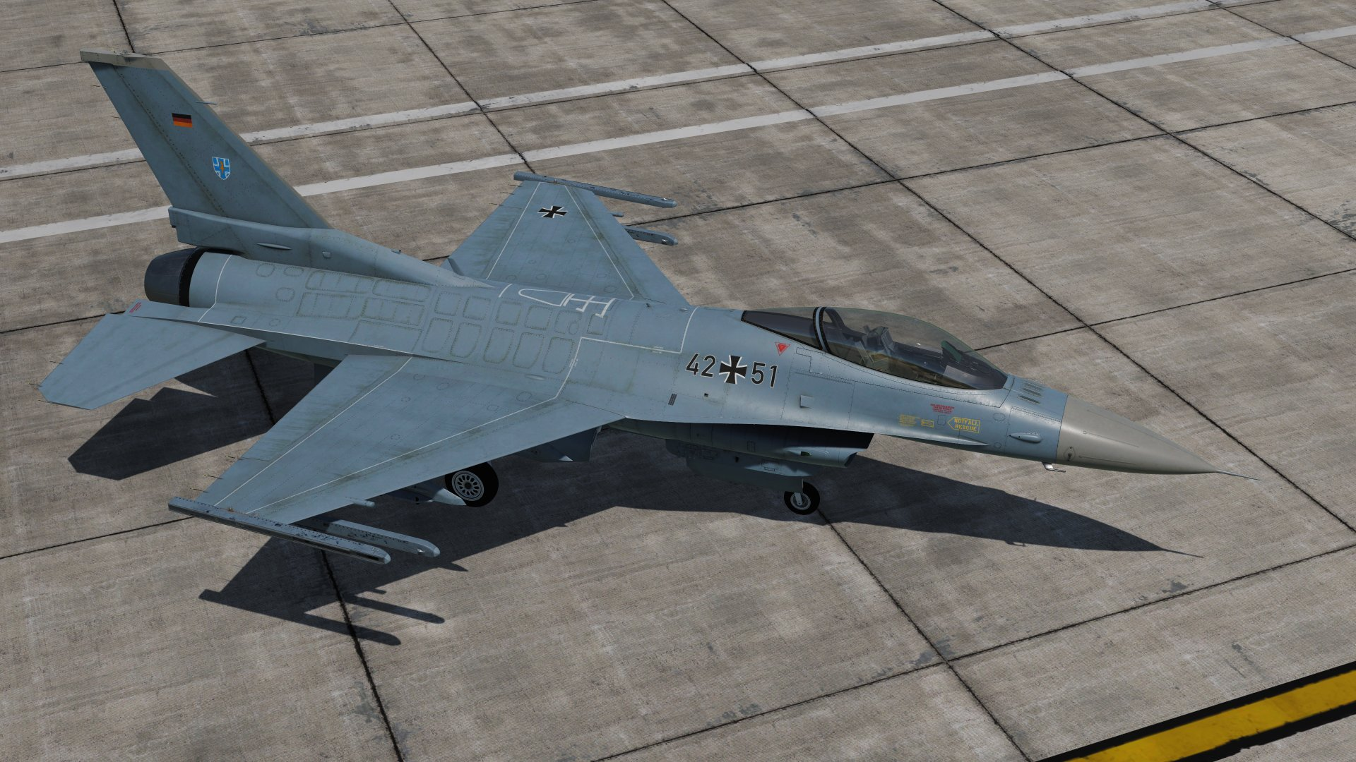 German Air Force F-16C Skin TaktLwG 73 Steinhoff  (fictional)