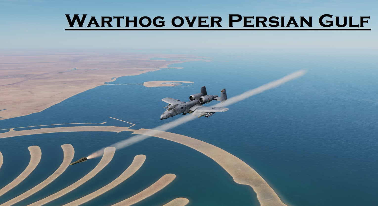 Warthog over Persian Gulf using Mbot Dynamic Campaign Engine