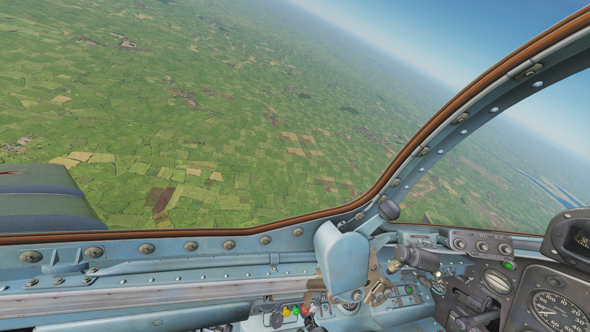 MiG-15 clean cockpit without reflections