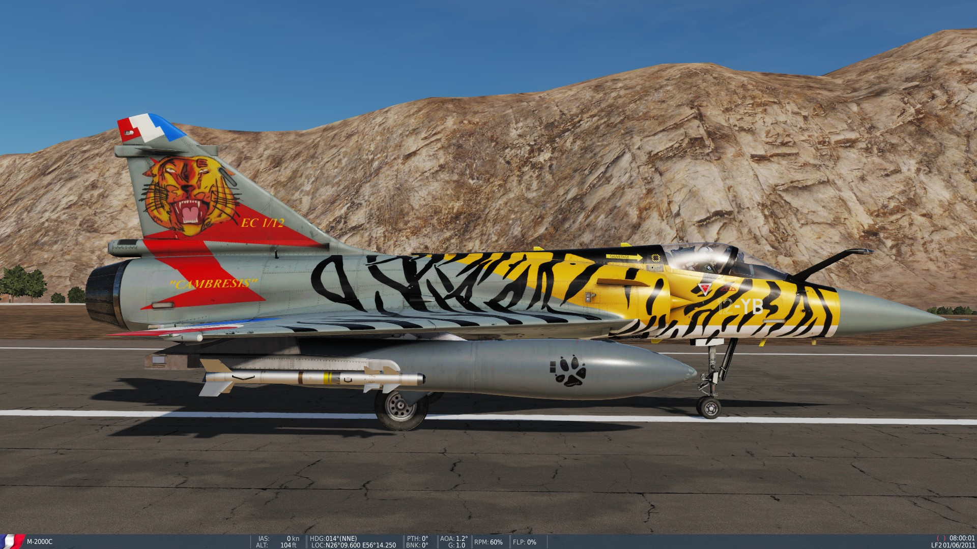 Mirage 2000C Ocean Tiger, 2008 - updated version