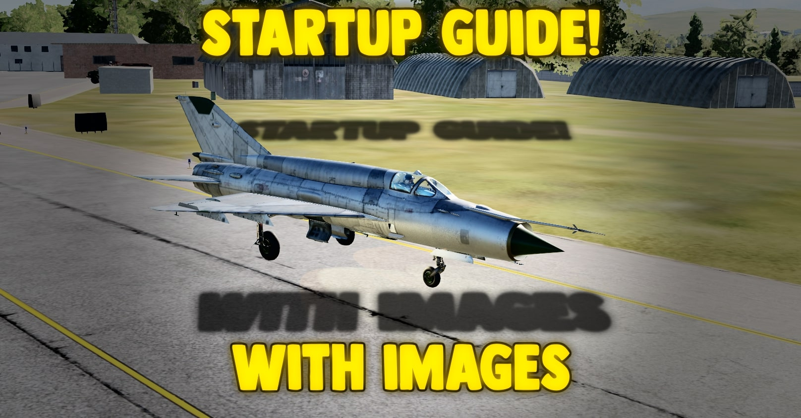 Mig 21 startup kneeboard with images!