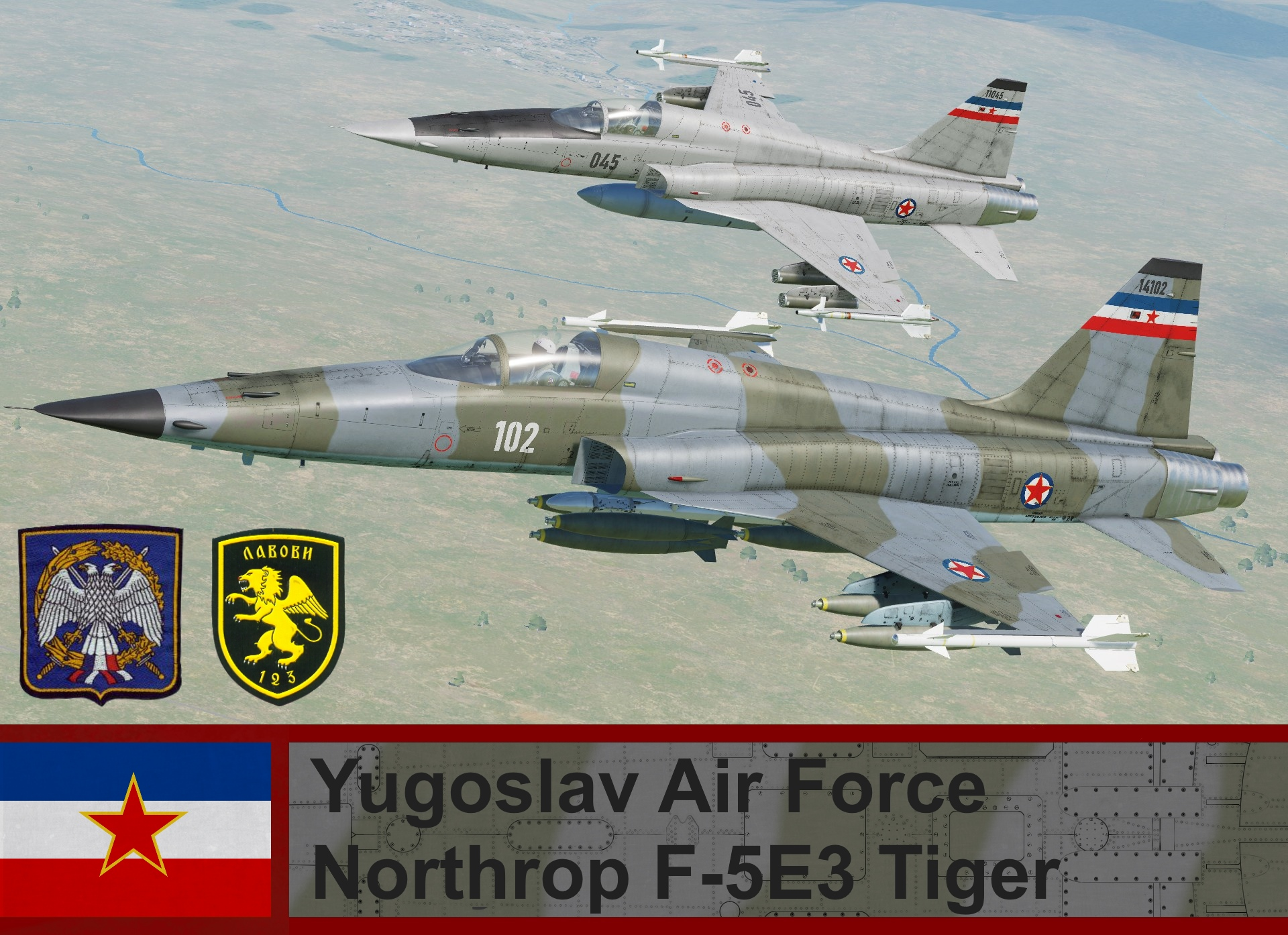 Yugoslav Air Force F-5E3 Tiger (Fictional) 4K