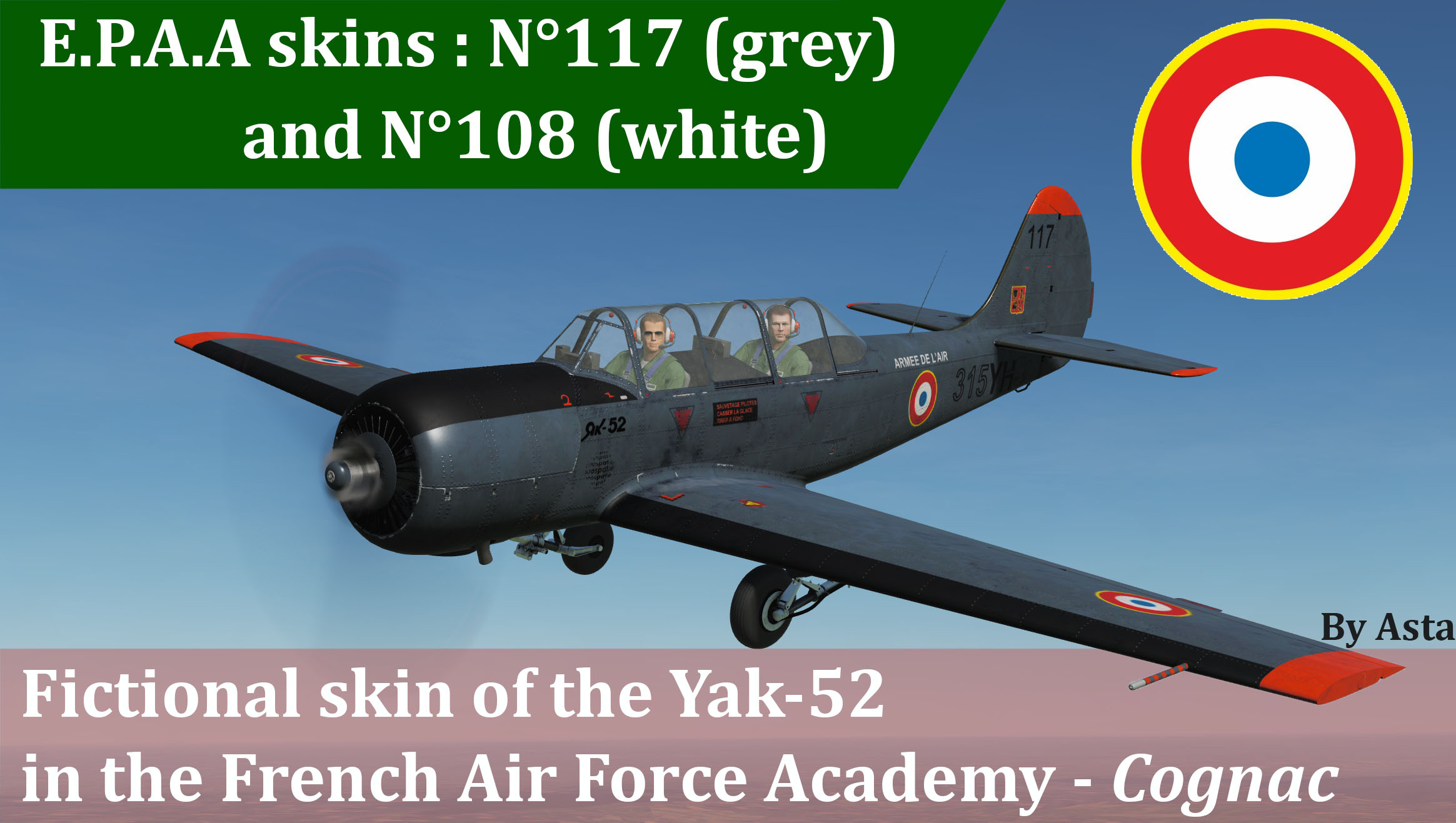 Yak-52 - French Air Force Academy (Fictional)