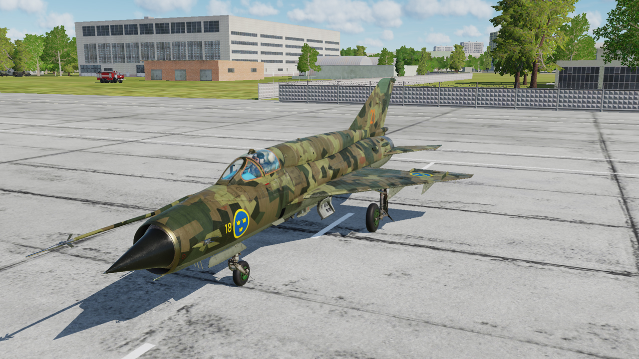 MiG-21bis Swedish Air Force (Svenska Flygvapnet) M90 Skin (Fictional)