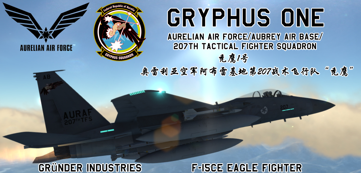"F-15C AAF 207th Tactical Fighter SQ ""Gryphus "" Skin From Ace Combat X:  Skies of Deception"