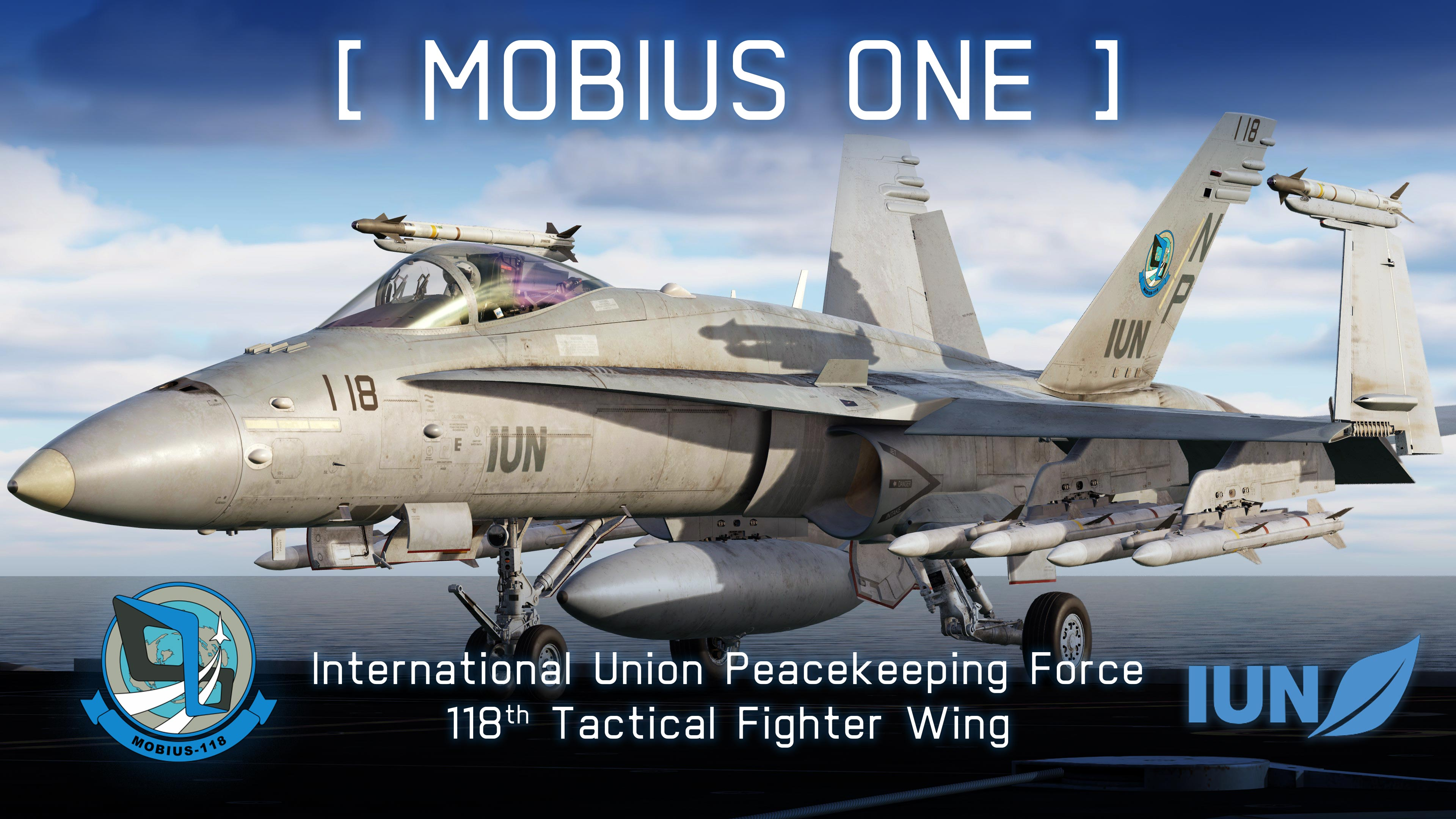 """Mobius 1"" – F/A-18C, IUN-PKF, 118th Tactical Fighter Wing (Ace Combat 7)"