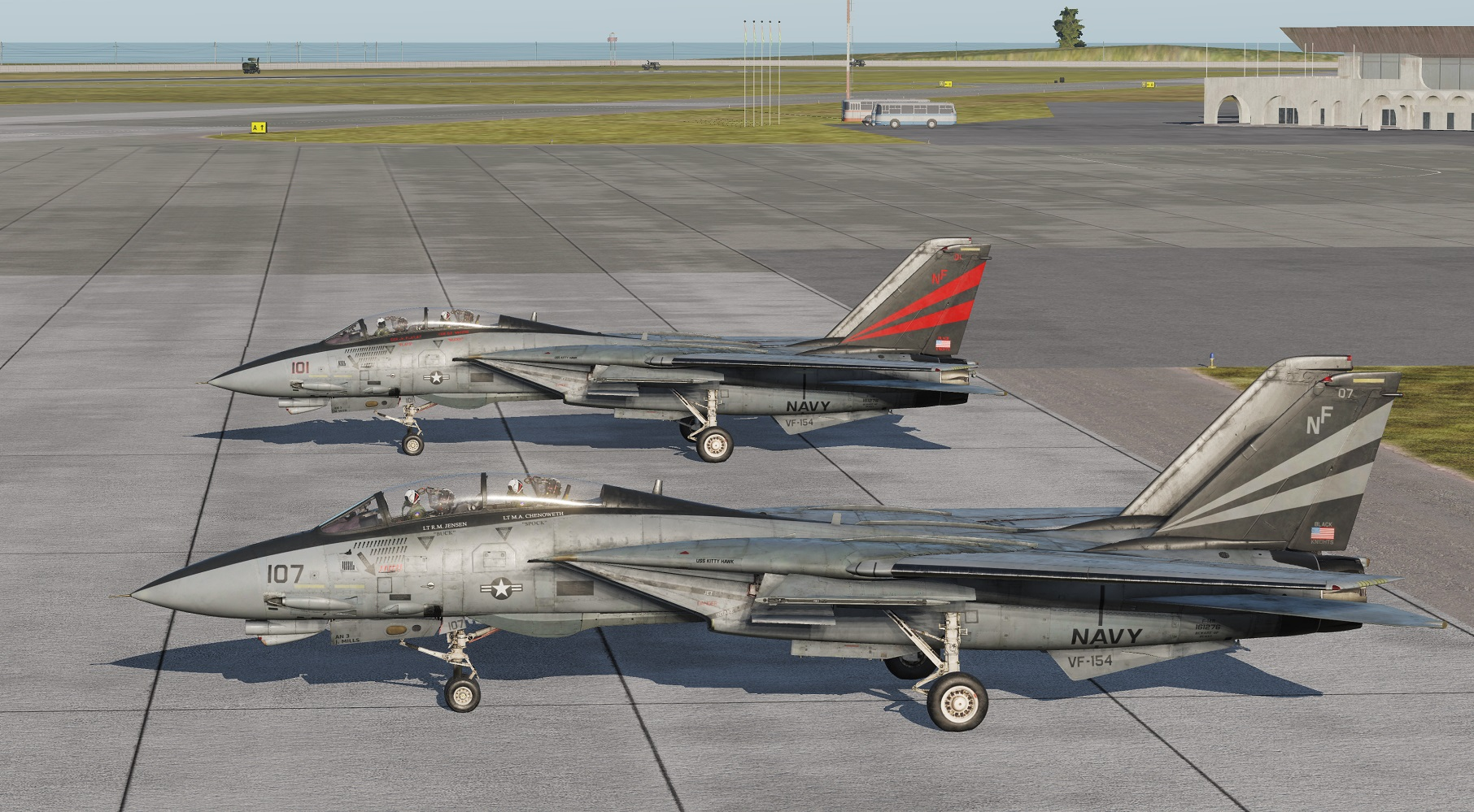 "F-14 Tomcat VF-154 Black Knights ""Nite 100"" AND ""NITE 107"""