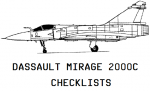 Dassault Mirage 2000C Checklists
