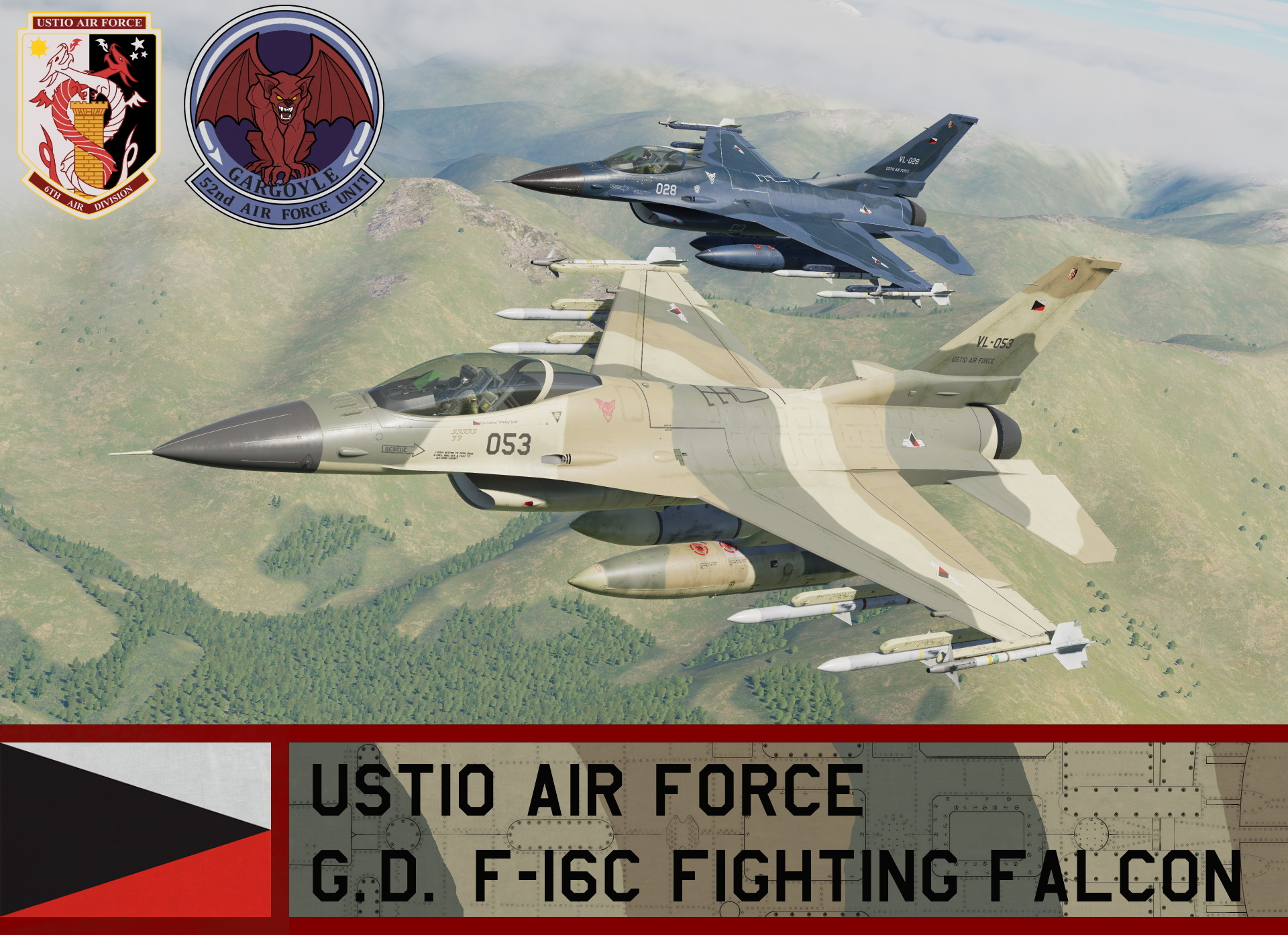 Ustio Air Force F-16C Block 50 - Ace Combat Zero (52nd AFU)
