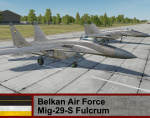 Belkan Air Force Mig-29S Fulcrum - Ace Combat Zero