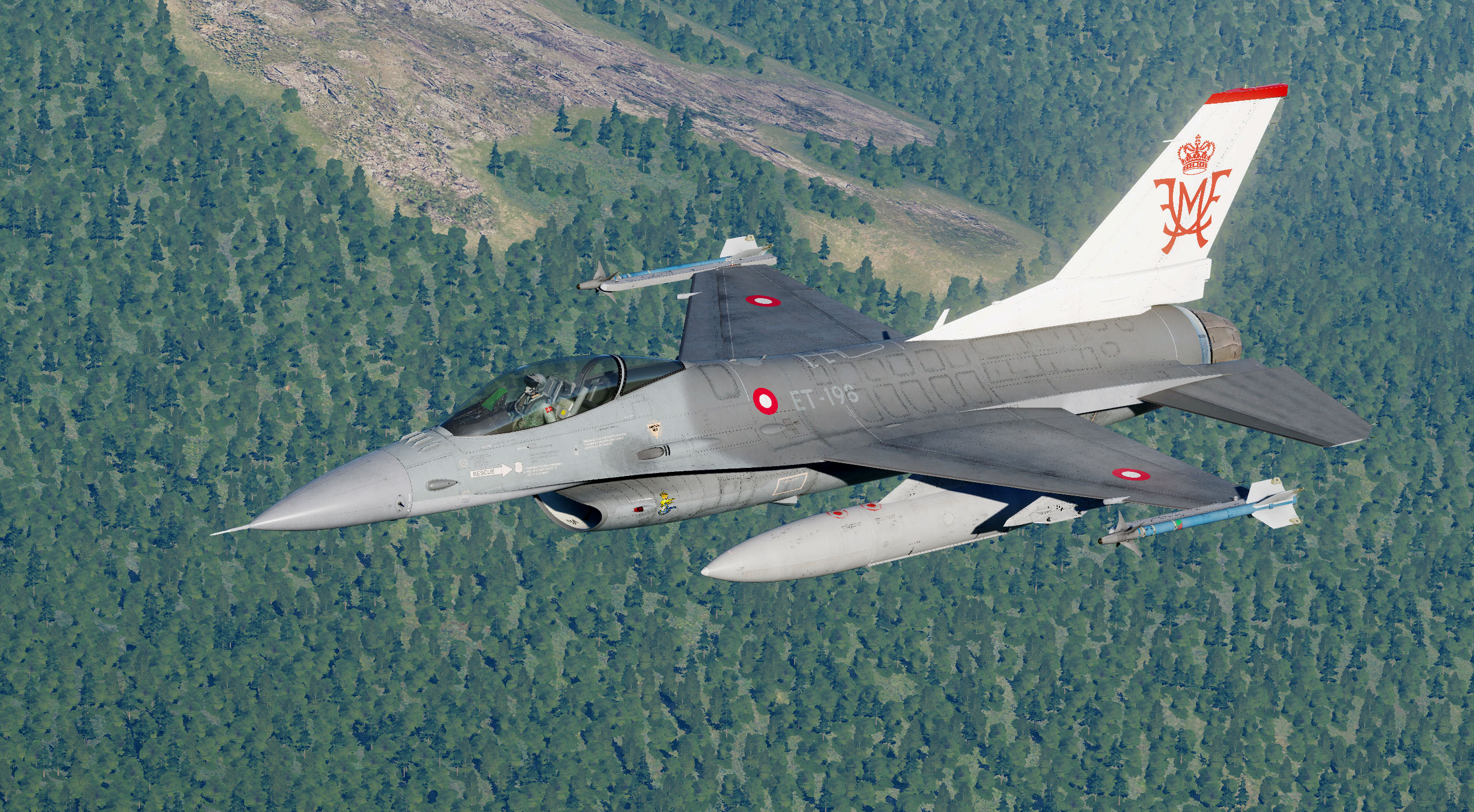 RDAF F-16BM Fighting Falcon ET-198 Frederik and Mary