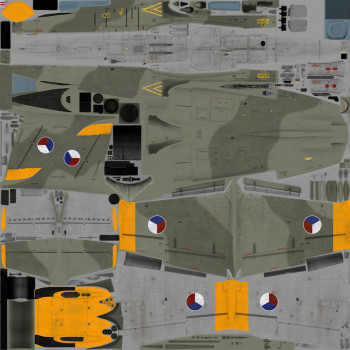 Texture template of L-39C model