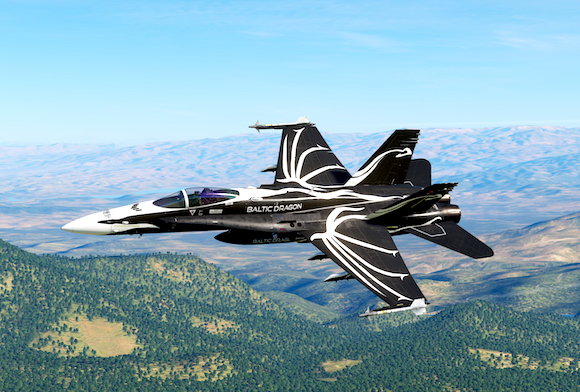 F/A-18C Baltic Dragon Skin