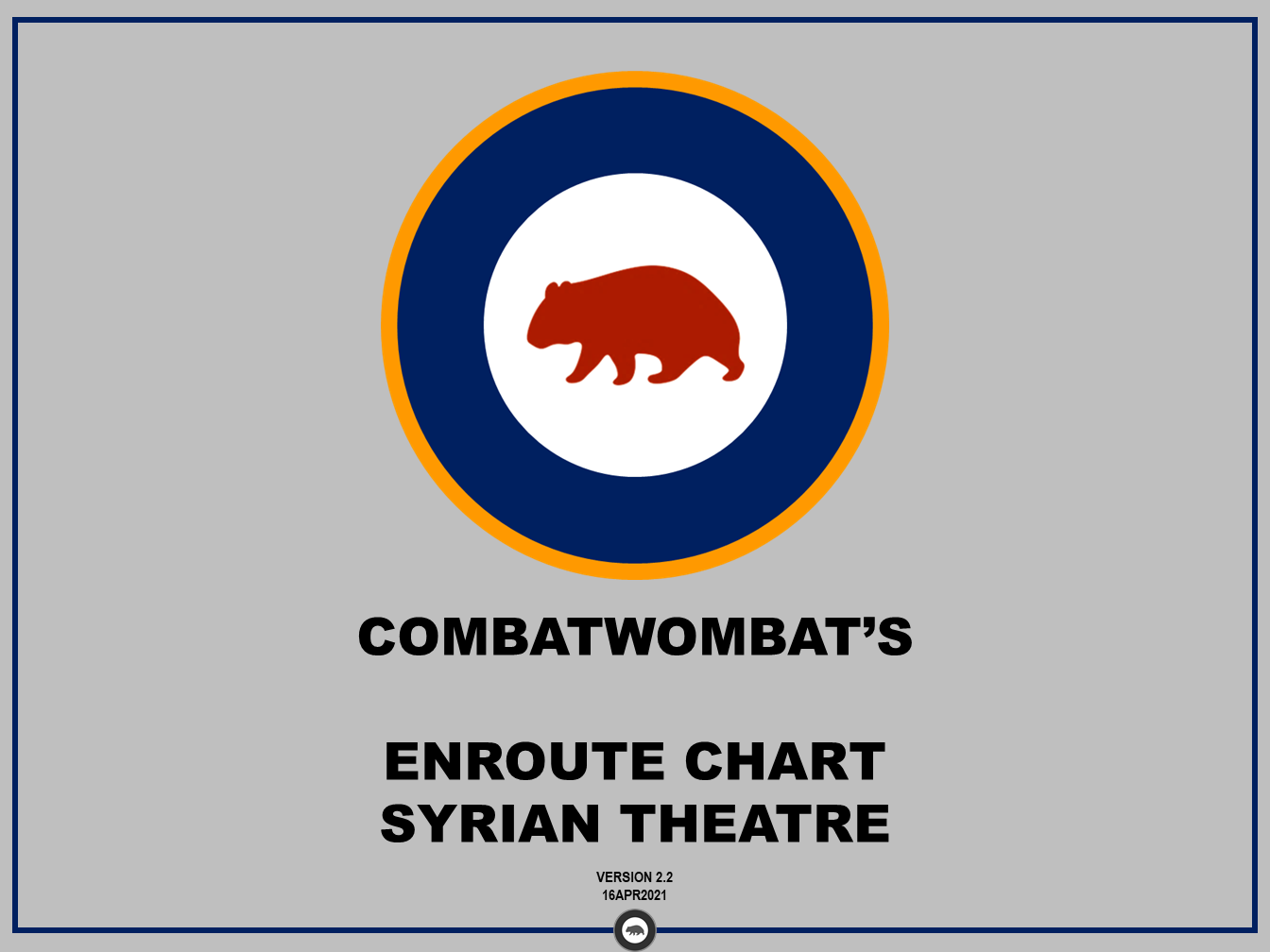CombatWombat's Enroute Charts: Syrian Theatre