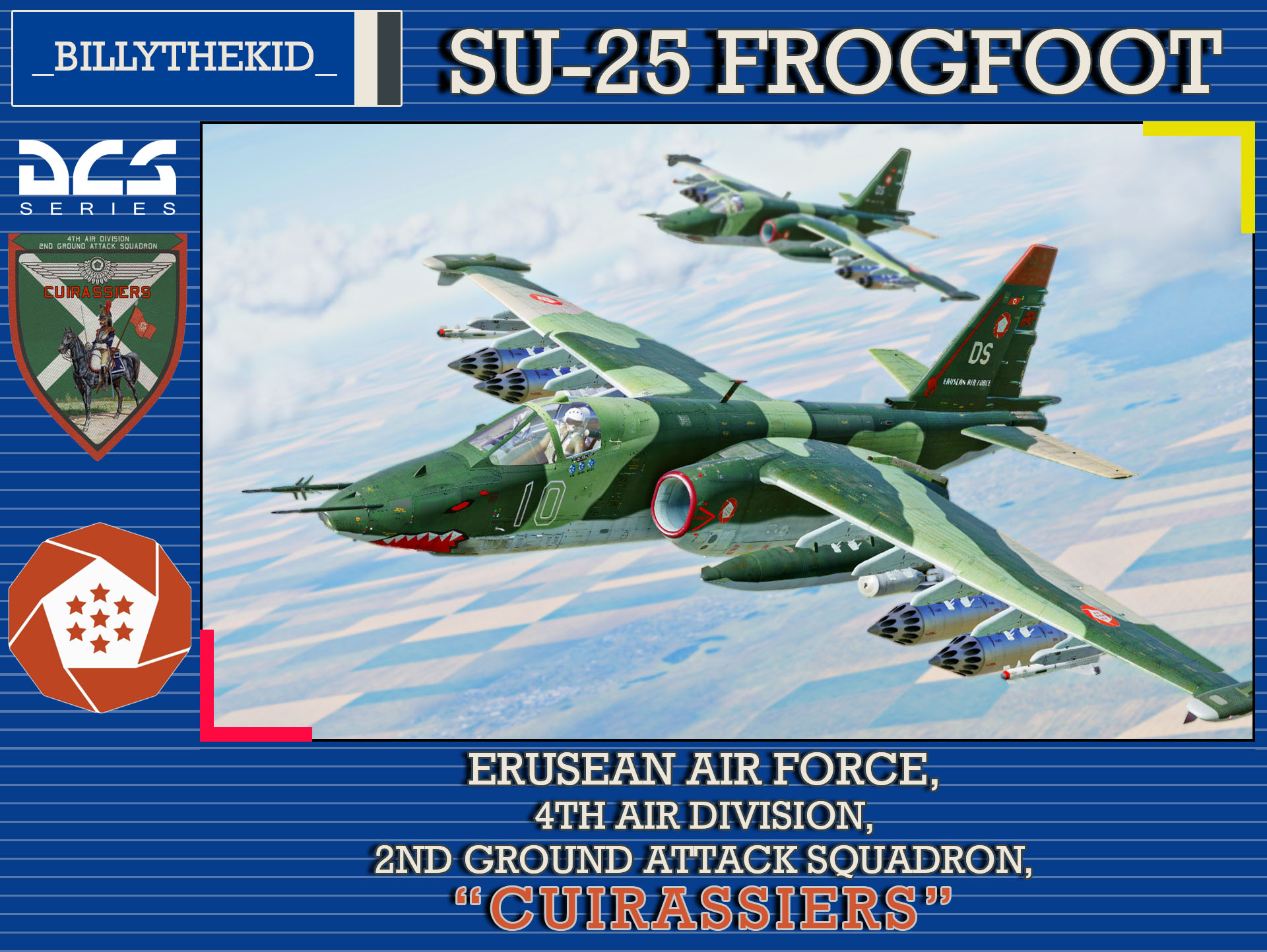 "Ace Combat - Erusean Air Force - 4th Air Division - 2nd Ground Attack Squadron ""Cuirassiers"" SU-25 Frogfoot"