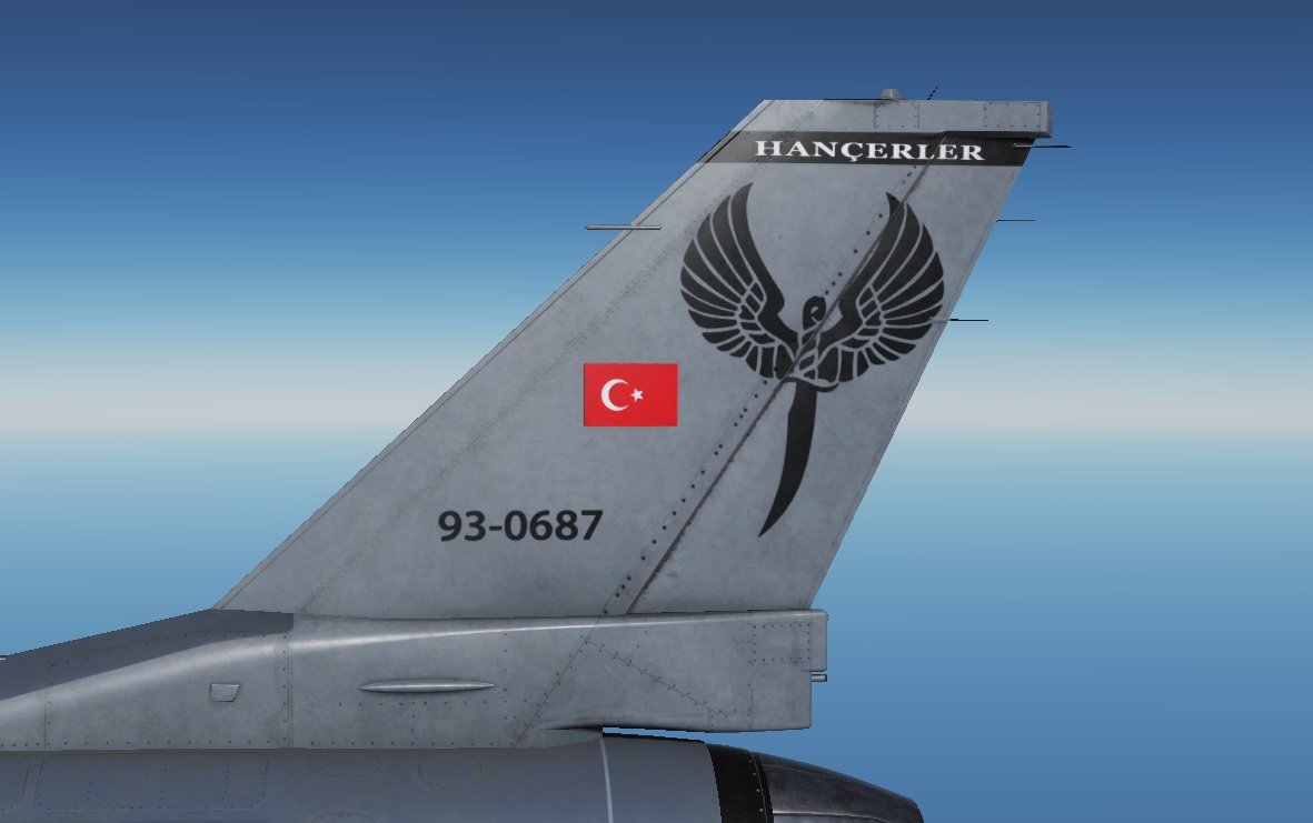 Turkish Air Force - Hançer 132. Filo - Livery - V 1.8 - by AngrybirdTR
