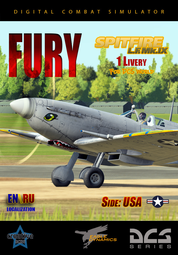 Fury Fan Skin Spitfire LF Mk. lX USA