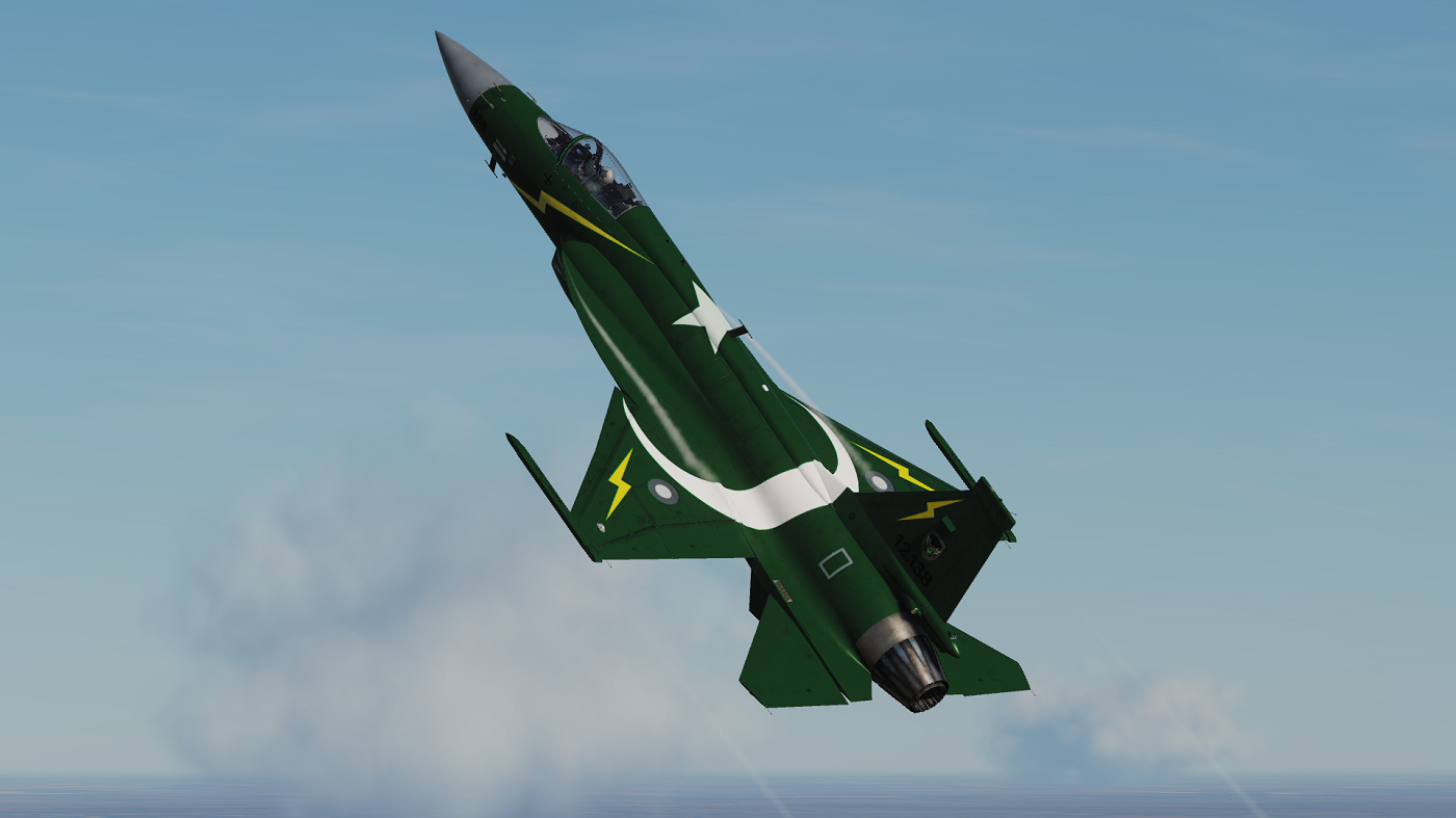 JF-17 Pakistan Airforce Thunder Demo Team Livery