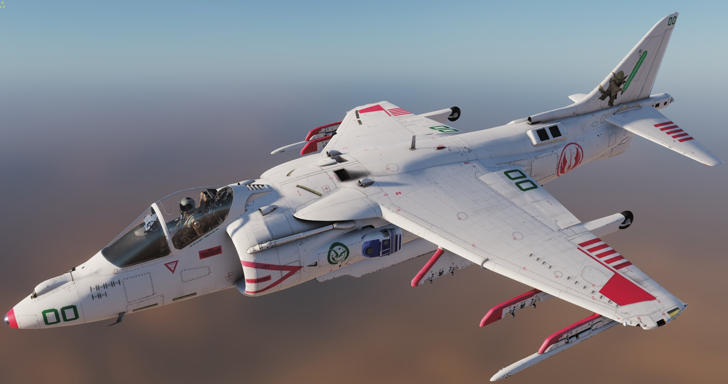 X-Wing Themed Harrier - By Cutlass72