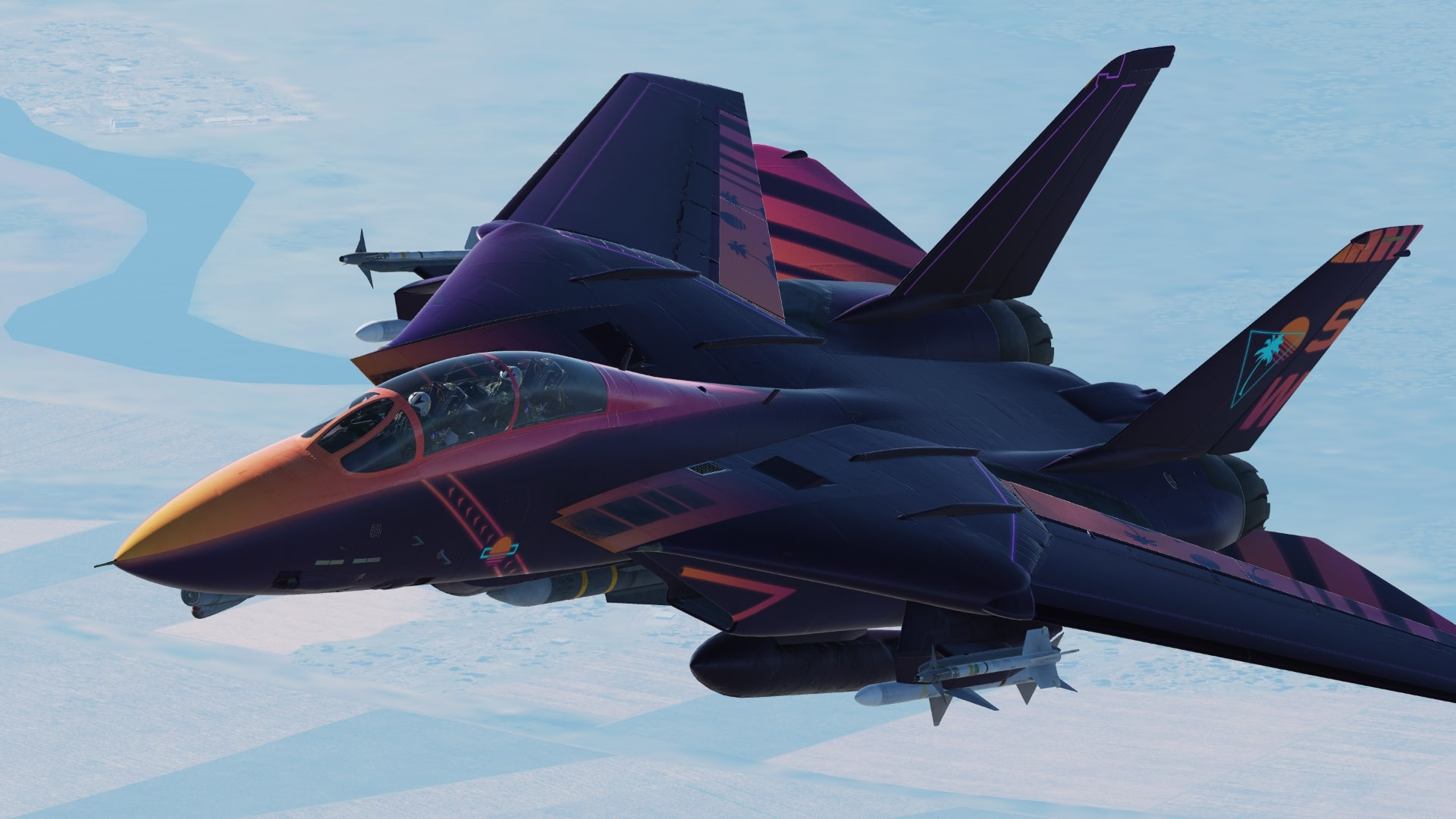 Synthwave F-14 Tomcat Livery