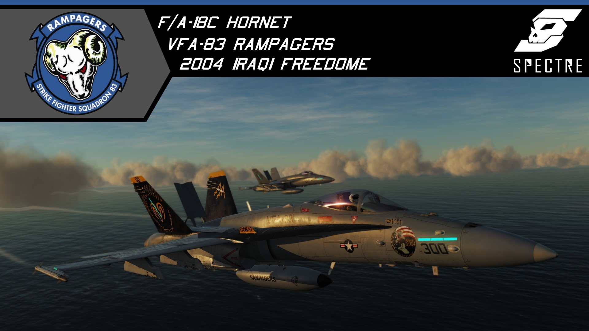F/A-18C VFA-83 Rampagers Iraqi Freedome CAG and high visibility