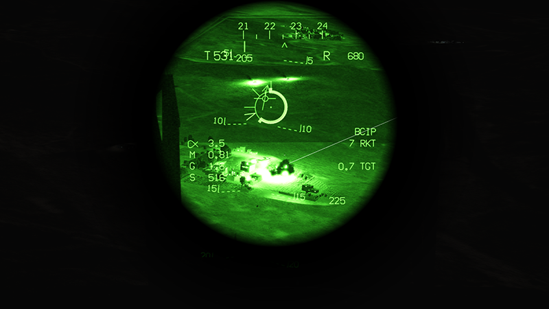 Operation Rescue under Fire - nighttime CAS for a stranded helo