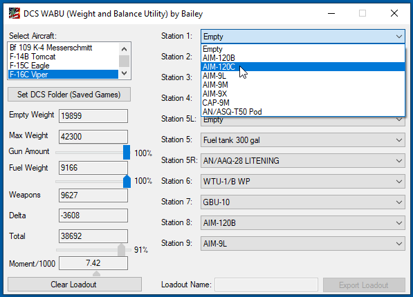 DCS WABU (Weight and Balance Utility) v2.1 F18 Update
