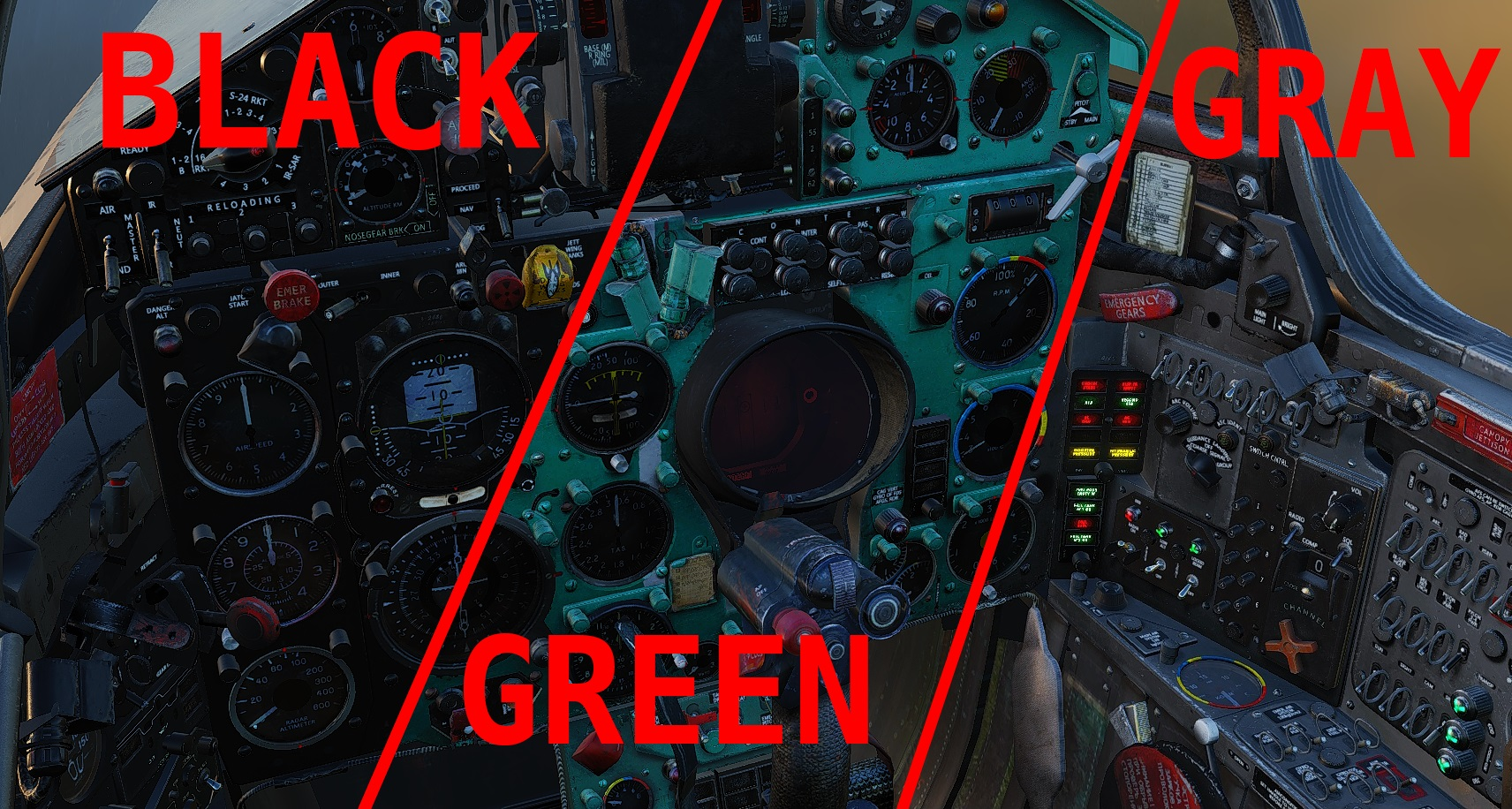 MiG-21 Cockpit mod pack - Green/Gray/Black both in English & Russian