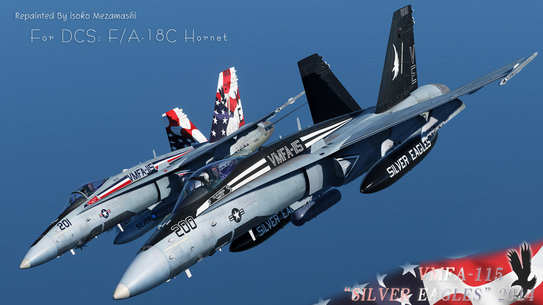 "F/A-18A++ HORNET ""VMFA-115 SILVER EAGLES"" 2014 PACK v1.0"