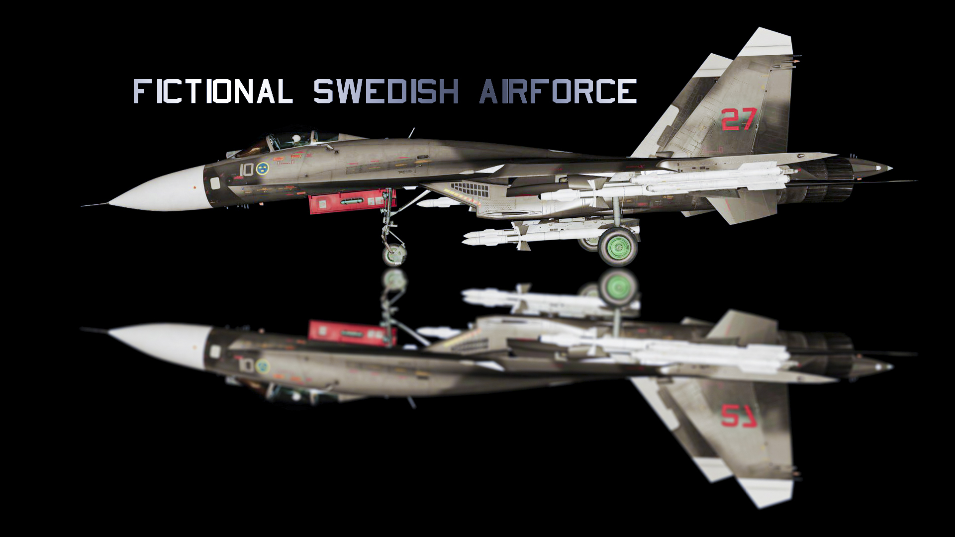Su-27 Flanker Fictional Skin: Swedish Air Force 2.0