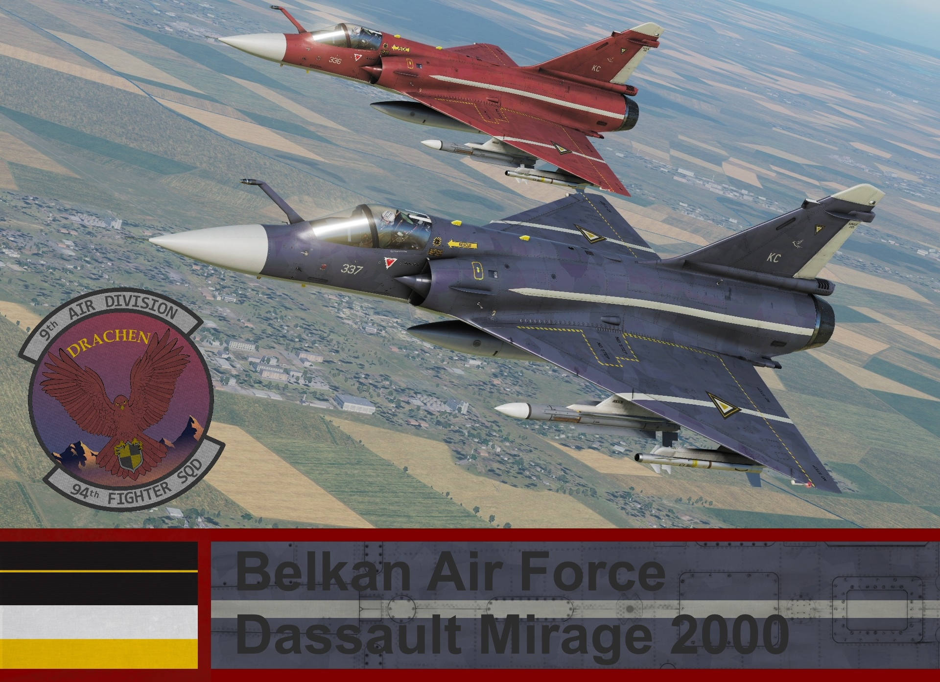 Belkan Air Force Mirage 2000C - Ace Combat Zero (94th FS) Cpt. Dietrich Brahms
