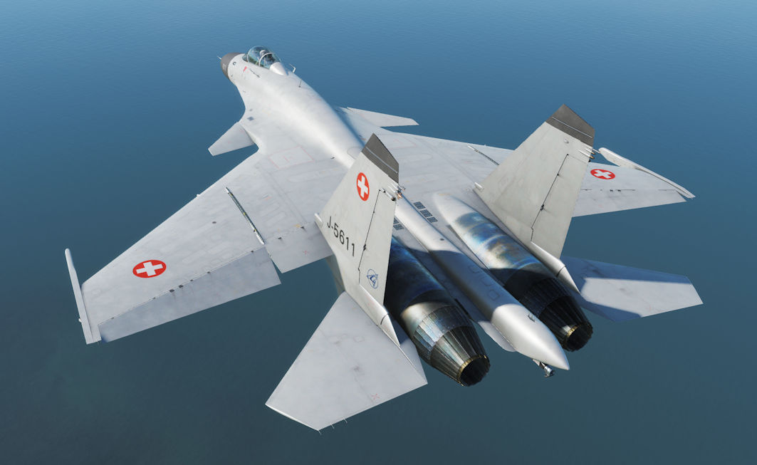 Su-33 Fictional Swiss Air Force Skin (DCS 2.5.3+)