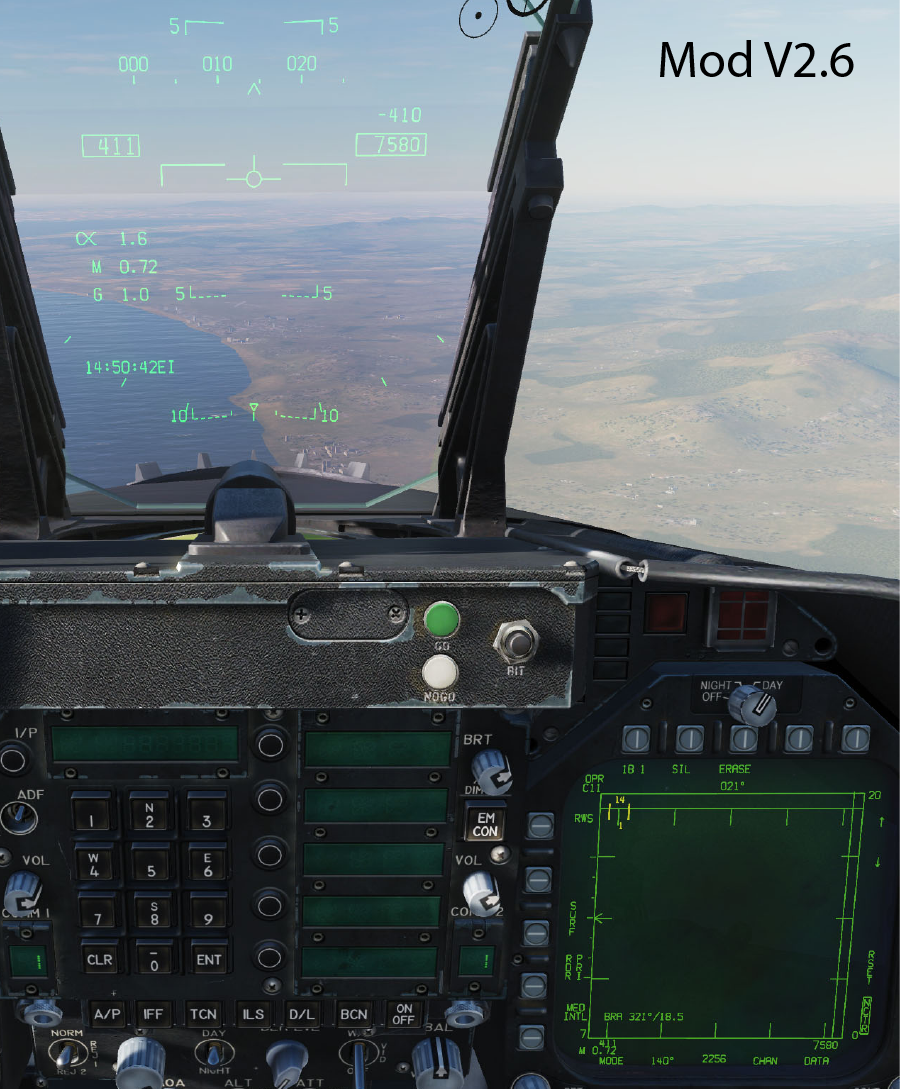 F/A-18C Cockpit Displays - Readability at High Resolution - Updated V2.6