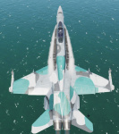 F/A-18C Lot OCEAN CAMO ((( FICTIONAL SKIN )))