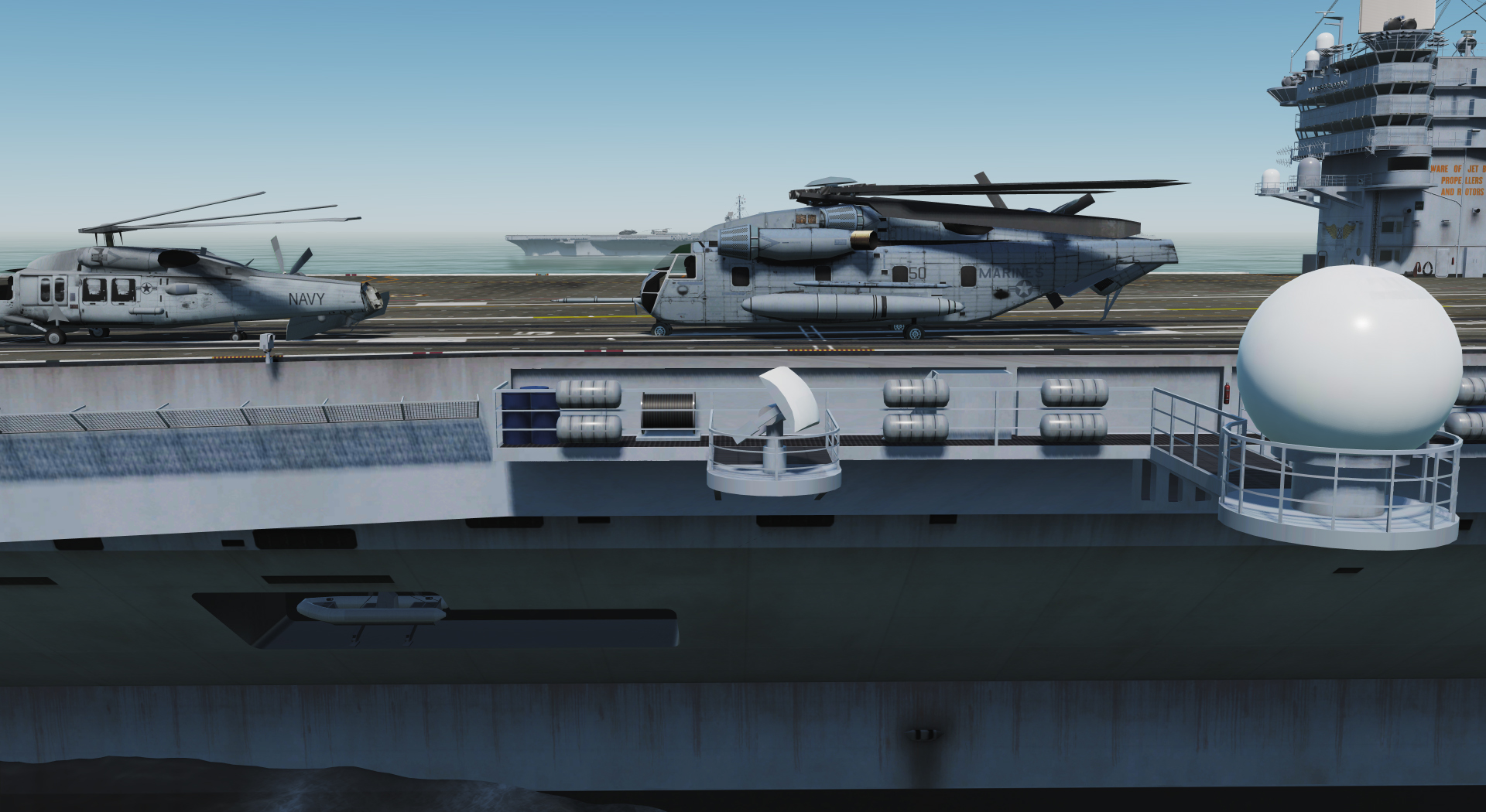 Replacement painting of the CH-53E and SH-60b