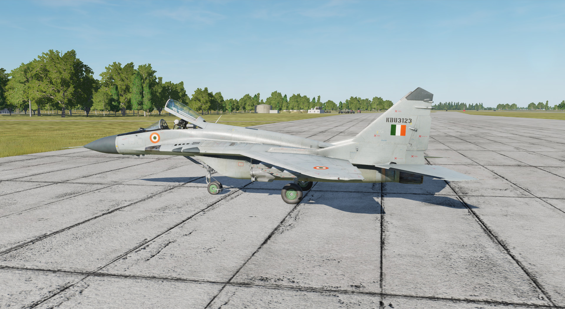 MiG-29s Basic Gray Skin for Indian Air Force