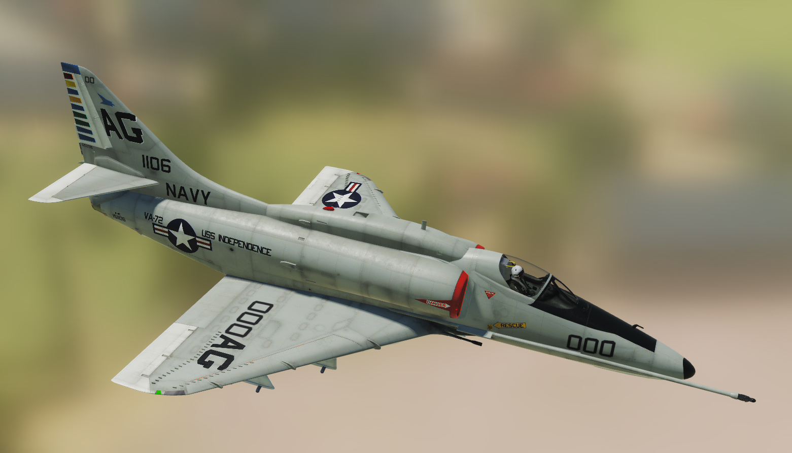 A-4E: VA-72 Blue Hawks CAG and Line Skins